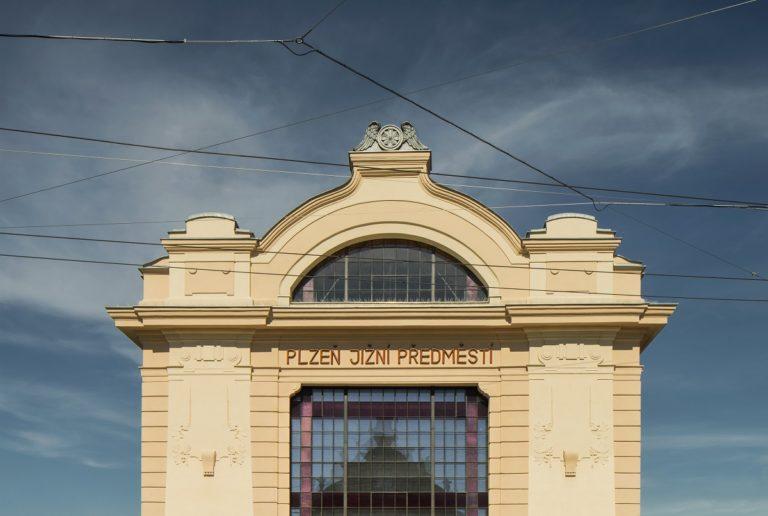 Průčelí budovy kulturního centra Moving Station