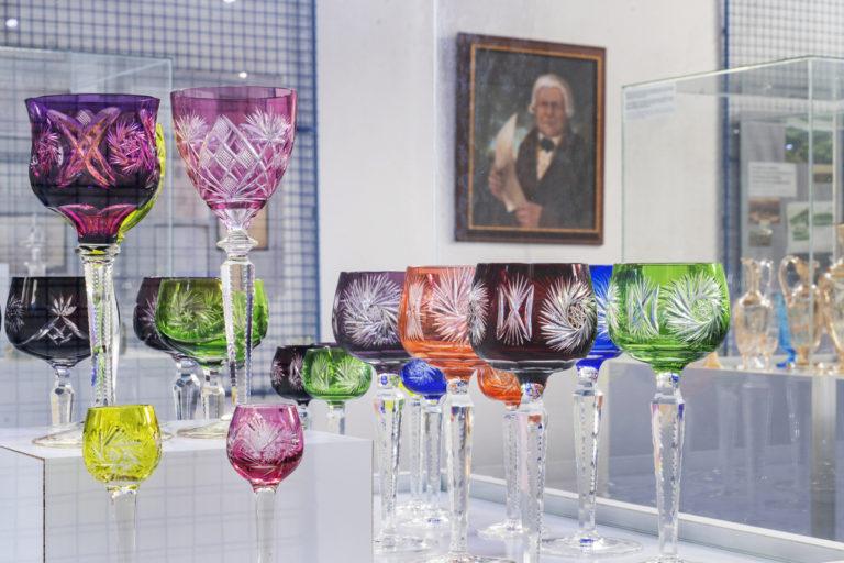 Muzeum skla sklárna annín sklenice