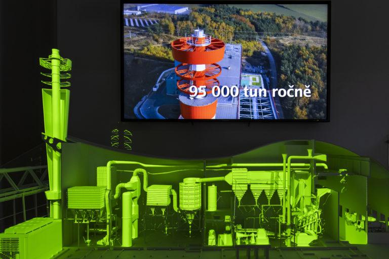 Informační centrum spalovny odpadu ZEVO Plzeň u chotíkove