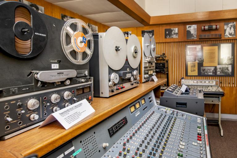 Nahravácí studium rozhlasové muzeum Plzeň