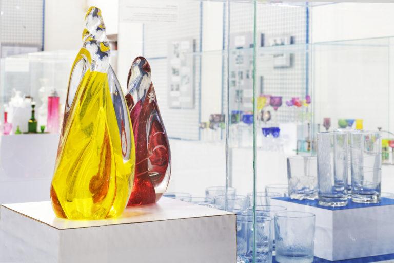 Expozice muzea skla sklárna annín