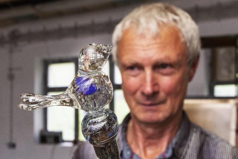 skleněný ptáček sklárna annín