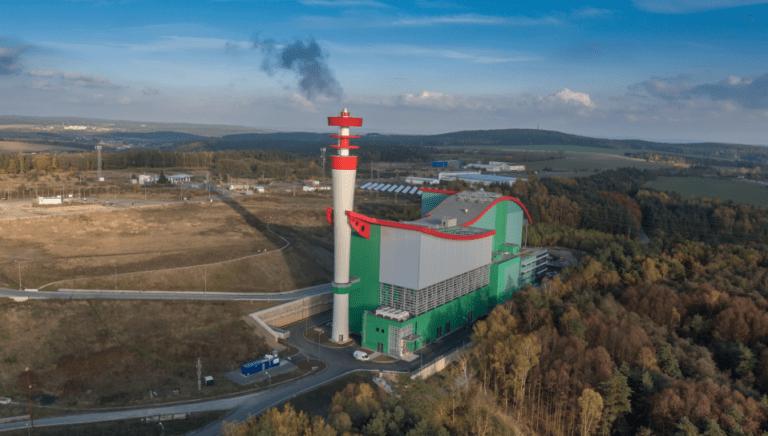 spalovna Plzeň letecký pohled