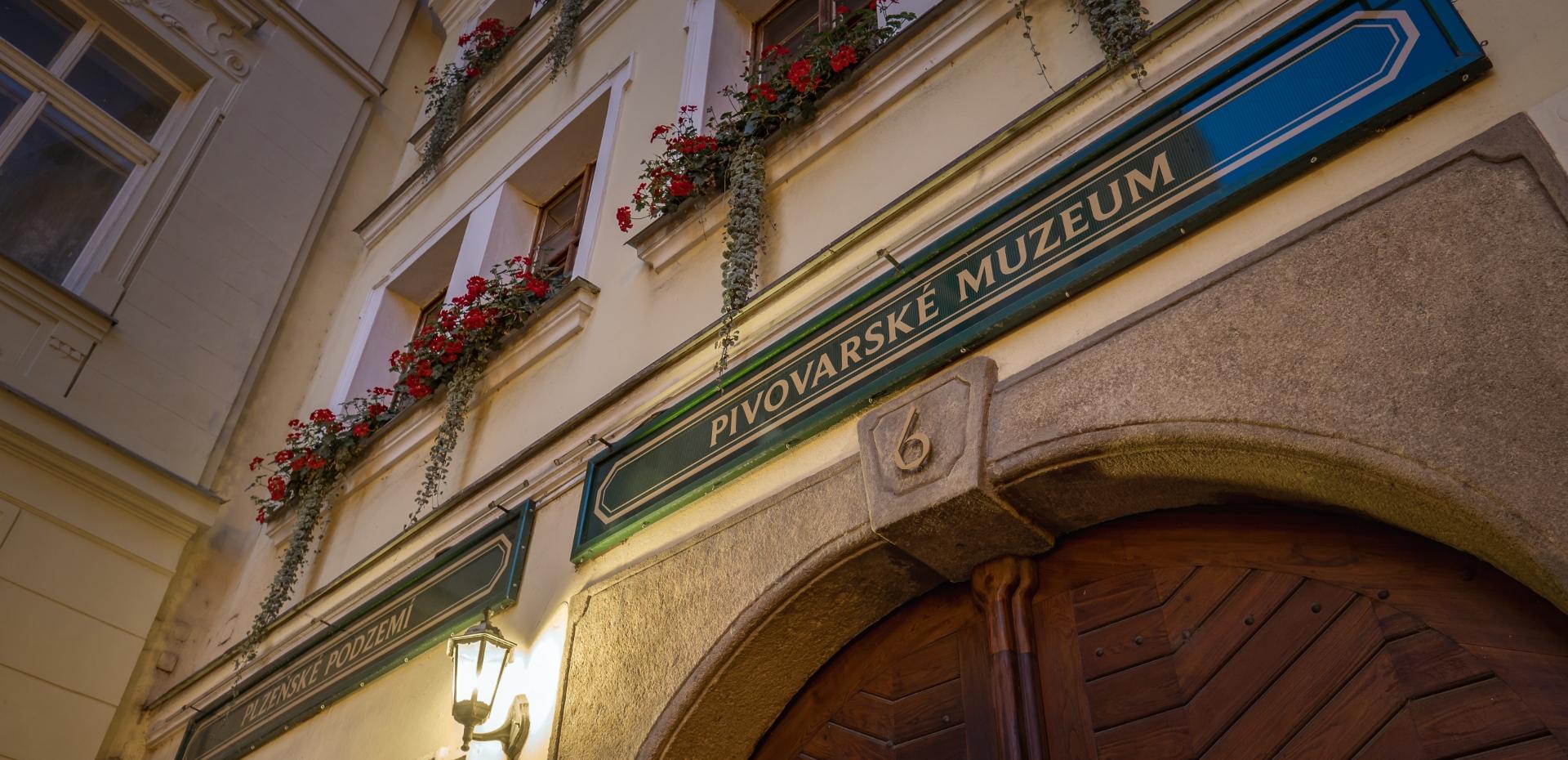 Vstup do Pivovarského muzea v Plzni